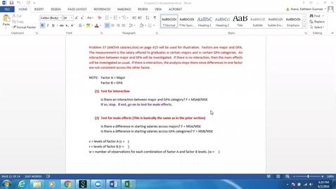 Thumbnail for entry 2-Way ANOVA Interaction Salary Example