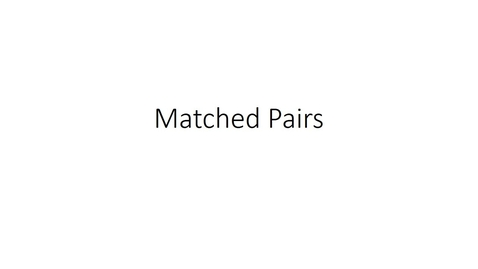 Thumbnail for entry Stat 301 Matched Pairs