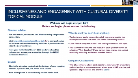 Thumbnail for entry Introducing the Inclusiveness and Engagement with Cultural Diversity Topical Module