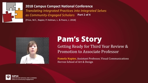 Thumbnail for entry Pam Napier: Getting Ready for Third Year Review & Promotion to Associate Professor
