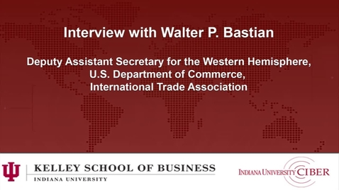 Thumbnail for entry CIBER: Interview with Walter P. Bastian