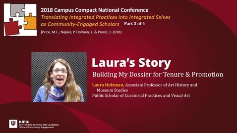 Thumbnail for entry Laura Holzman - Seeking Promotion to Associate Professor