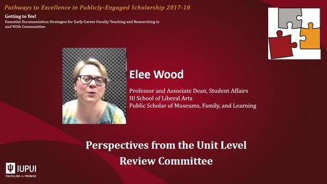 Thumbnail for entry Getting to Yes as Public Scholar - Working With the Unit Level Review Committee