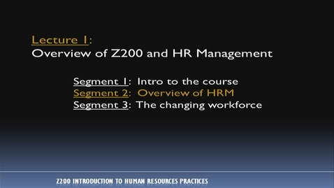 Thumbnail for entry Z200_Lecture 01-Segment 2: Overview of HRM