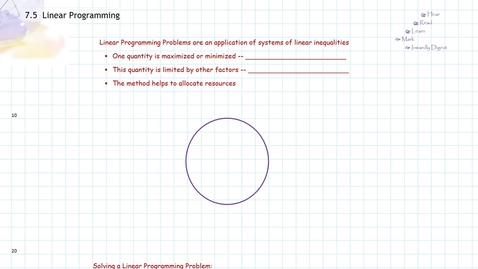 Thumbnail for entry Linear Programming:  Introduction
