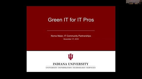 Thumbnail for entry Sustainable IT - IT Pro Orientation November 17, 2016