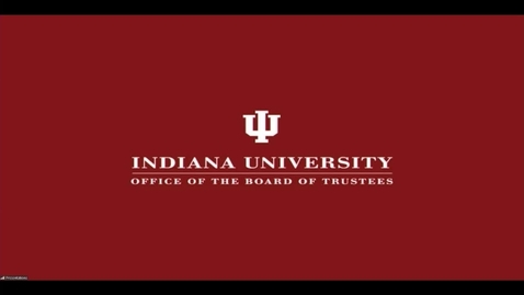 Thumbnail for entry IU Board of Trustees Meeting - April 10, 2020