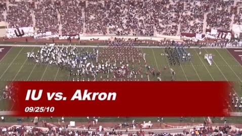 Thumbnail for entry 2010-09-25 vs Akron - Halftime (Band Day)