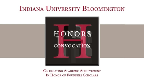Thumbnail for entry IUB Honors Convocation 2017