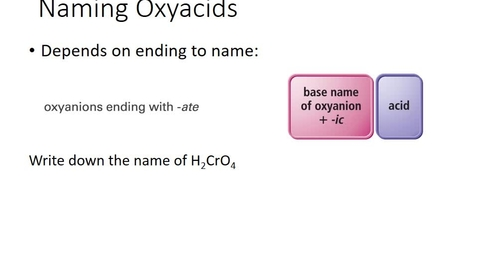 Thumbnail for entry Naming Oxyacids