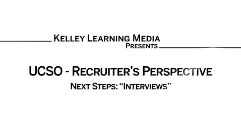 Thumbnail for entry Interviews