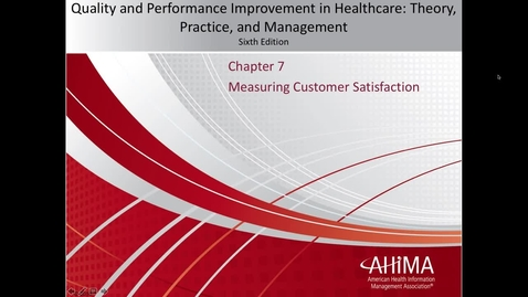 Thumbnail for entry M301 - Chapter 7 Lecture - Measuring Customer Satisfaction