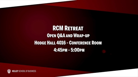 Thumbnail for entry 2017_02_20_RCM Retreat - 10 Open Q&A and Wrap-up (Upload 03/03/17)
