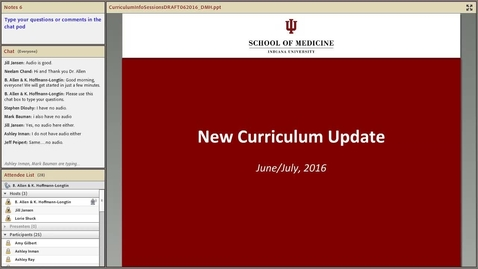 Thumbnail for entry IUSM Curriculum Info Session 6-23-16