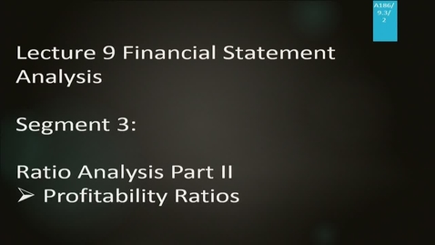 Thumbnail for entry A186 09-3 Financial Statement Analysis