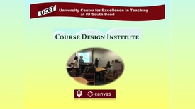 Thumbnail for entry Course Design Institute Video