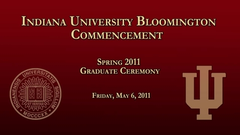 Thumbnail for entry 2011 Commencement for Masters and Doctoral Graduates