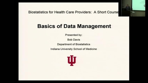 Thumbnail for entry Lecture 5: Basics of Data Management - Part 1