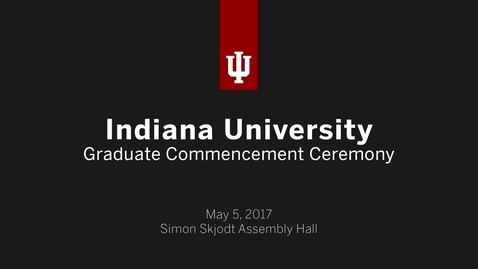 Thumbnail for entry IUB Graduate Commencement