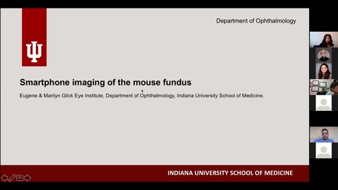 Thumbnail for entry Smartphone imaging of the mouse fundus