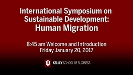 Thumbnail for entry CIBER Symposium on Human Migration & Sustainable Development: Introduction - Jan. 20, 2017