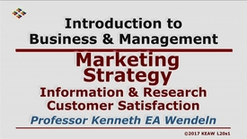 Thumbnail for entry X100_Lecture 20-Segment 1_Info. & Research Customer Satisfaction