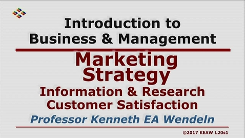 Thumbnail for entry X100 20-1 Information & Research Customer Satisfaction