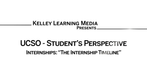 Thumbnail for entry The Internship Search Timeline