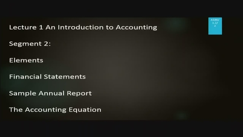 Thumbnail for entry A186 01-2 An Introduction to Accounting