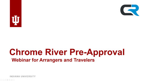 Thumbnail for entry Trip Pre-Approval for Travelers and Arrangers