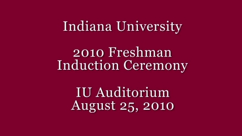 Thumbnail for entry 2010 Freshman Induction Ceremony