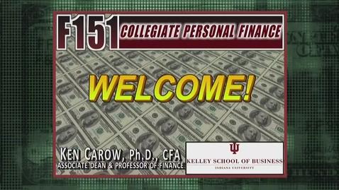 Thumbnail for entry F151 Welcome Dean Ken Carow