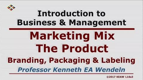 Thumbnail for entry X100 16-3 Branding, Packaging & Labeling