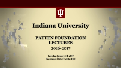 Thumbnail for entry Patten lecture: Franco Moretti