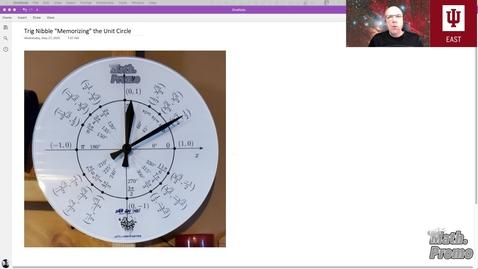 "Thumbnail for entry Trig Nibble: ""Memorizing"" the Unit Circle"