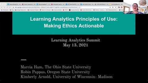 Thumbnail for entry Learning Analytics Principles of Use: Making Ethics Actionable