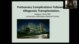 "Thumbnail for entry IUSCC_Grand_Rounds_20170901.mp4 - Gregory Yanik, M.D., B.S., ""Pulmonary Complications of Allogeneic Stem  Cell Transplantation"""