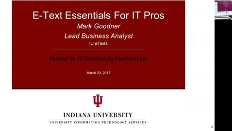 Thumbnail for entry eText Essentials For IT Pros 23 March 2017
