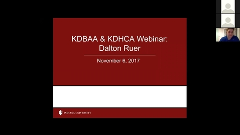 Thumbnail for entry KDHCA Careers in Healthcare - Data Analytics with Dalton Ruer  11.06.17