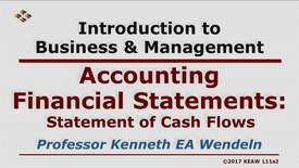Thumbnail for entry X100 11-2 Statement of Cash Flows