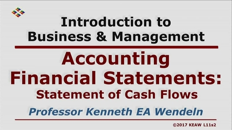 Thumbnail for entry X100_Lecture 11-Segment 2_Statement of Cash Flows