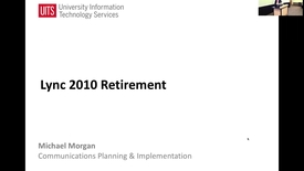 Thumbnail for entry Lync 2010 Client Retirement, New Mac OS Client  - IT Water Cooler November 17, 2016