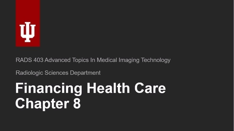 Thumbnail for entry Chapters 8 and 11 Healthcare