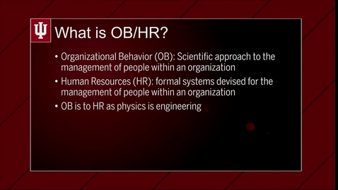 Thumbnail for entry M01V01 What is OBHR?