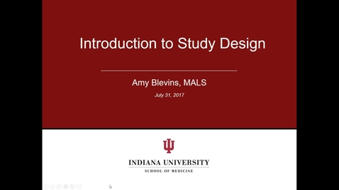 Thumbnail for entry Study Design Pre-Class Module