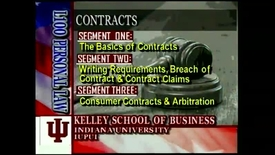 Thumbnail for entry L100 08-1 The Basics of Contracts