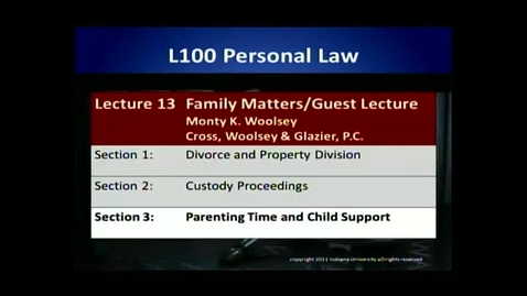 Thumbnail for entry L100 13-3 Parenting Time and Child Support