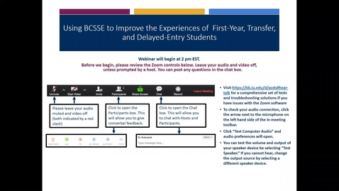 Thumbnail for entry Overview of BCSSE 2019 Updates