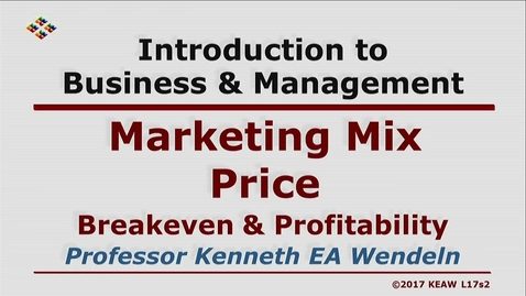 Thumbnail for entry X100 17-2 Breakeven & Profitability