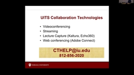 Thumbnail for entry Collaboration Technologies - IT Pro Orientation November 17, 2016